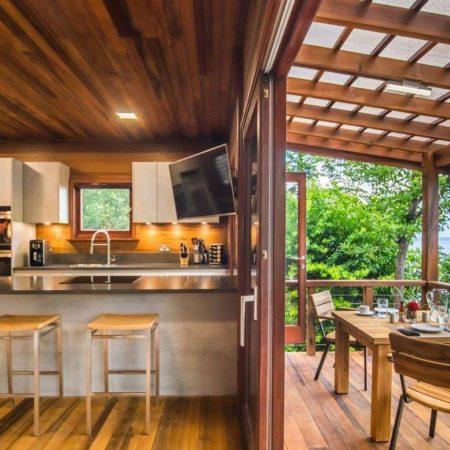 Tifey3-Kitchenh & Balcony - Secret Bay Dominica